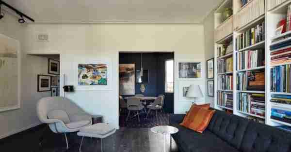 在Potts Point的一个狭窄的艺术装饰公寓被重新设计,使其更宽敞