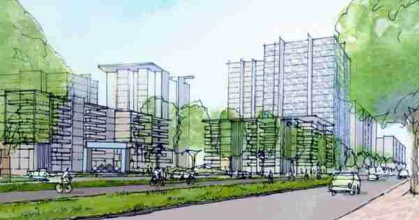 Belconnen Town Centre Graft总体规划设定了27楼的高度限制